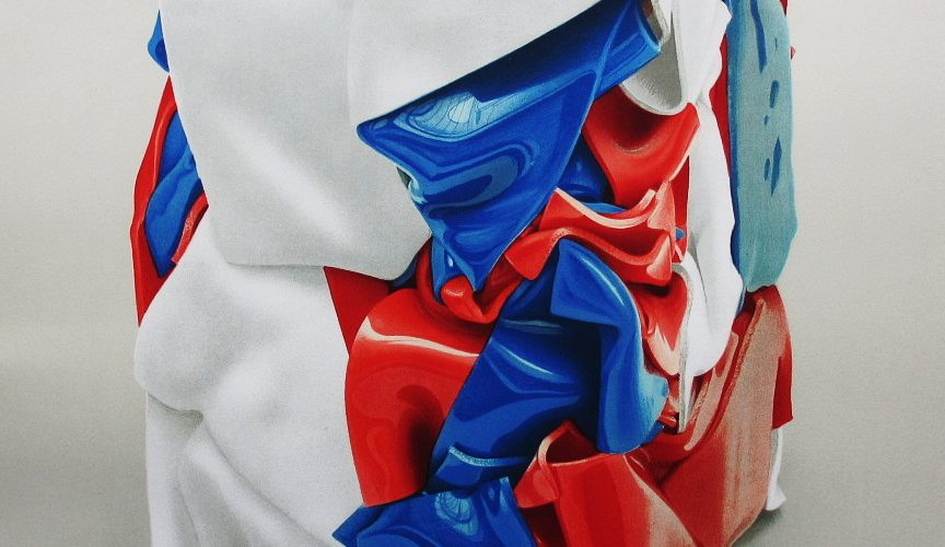 CESAR-Portrait de compression bleu-blanc-rouge