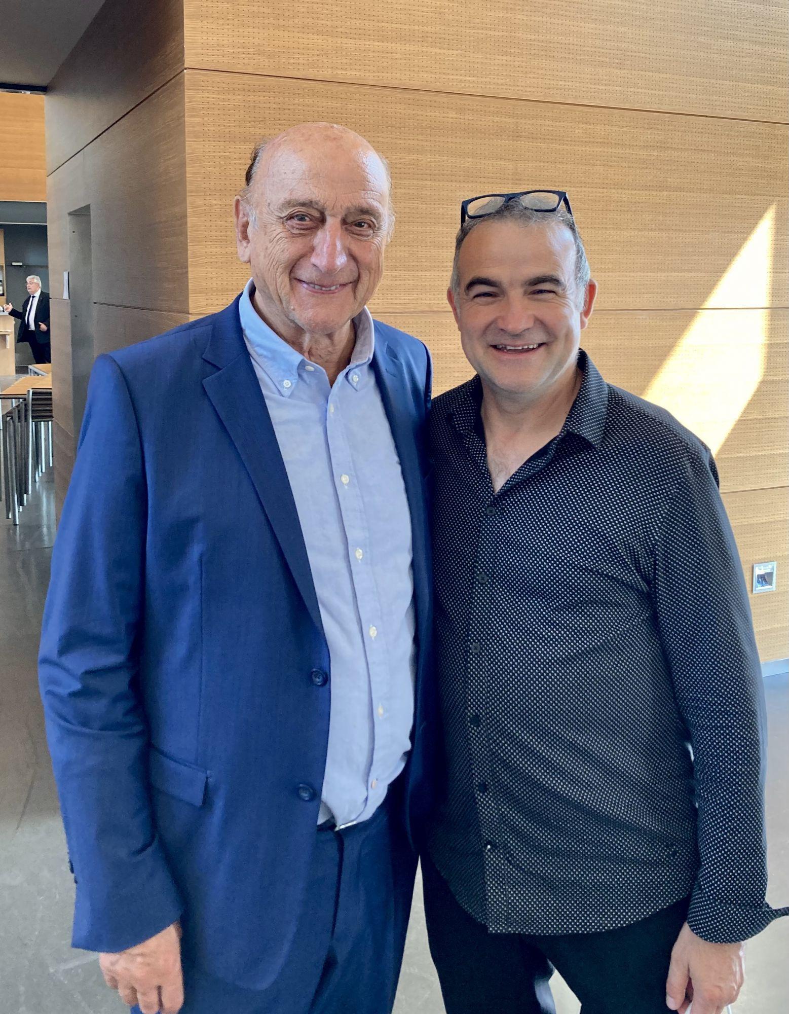 Fernando Costa et M. Pierre Bonte à Saran au Musée du Président Jacques Chirac