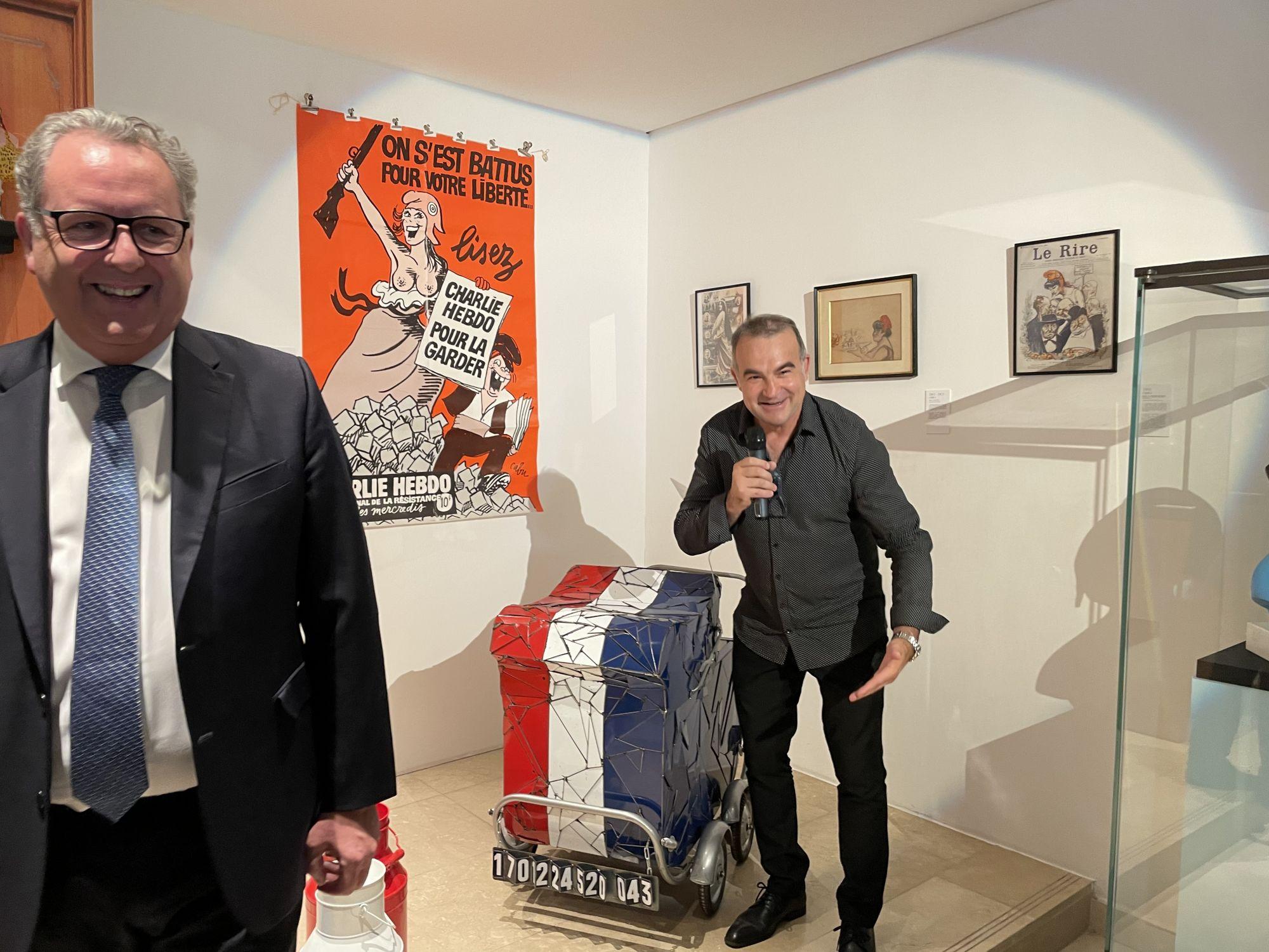 Fernando Costa et M. Richard Ferrand à Saran au Musée du Président Jacques Chirac